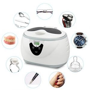 SKYMEN 600ML Ultrasonic Cleaner with Degassing Function Jewelry Cleaner 35W Ultrasonic Cleaning Machine for Jewelry Rings Necklace Watches Razors Denture Eyeglasses Combs DVDs Coins Tools & Parts