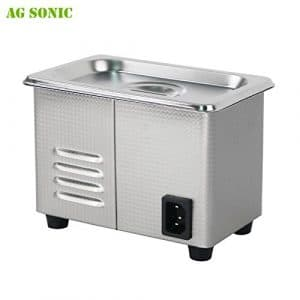 AG SONIC Ultrasonic Cleaner Cleaning Wash Clean Jewelry Ring Necklace Eyeglass Watch Lens Denture Mouthguard Comb valuables Jewellery Cleaner Ultrasound Cleaner SUS Digital Power Adjustable (30L)