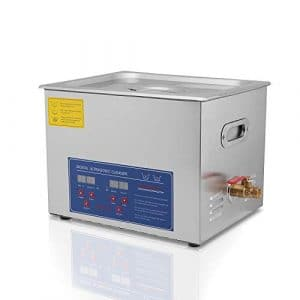 Commercial Ultrasonic Cleaner 15L with Heater and Timer Great for Gun,Bike,Motocycle,Auto pars Cleaning