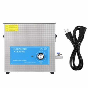 15L Ultrasonic Cleaner, 613T Stainless Steel Ultrasonic Cleaner Mechanical Timing Laboratory Cleaning Supplies for Glasses Rings Coins Jewelry Watches(US plug)