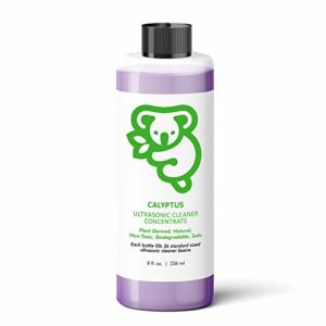Calyptus Ultrasonic Jewelry Cleaner Concentrate | 100% Natural, Non-Toxic, and Safe | Diamond, Gemstone, Gold, Silver, and Eyeglass Sonic Cleaning Solution | 36 Machine Refills, 8 Ounces