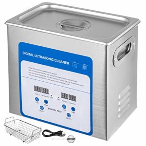 Mophorn 3.2L Professional Ultrasonic Cleaner 320W 304 and 316 StainlessSteel Digital Lab Ultrasonic Cleaner with Heater Timer for Jewelry Watch Glasses Circuit Board Dentures Small Parts Dental Instru