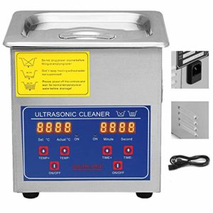 VEVOR Commercial Ultrasonic Cleaner 1.3L Ultrasonic Cleaner for Cleaning Eyeglasses Rings Large Capacity Heated Ultrasonic Cleaner