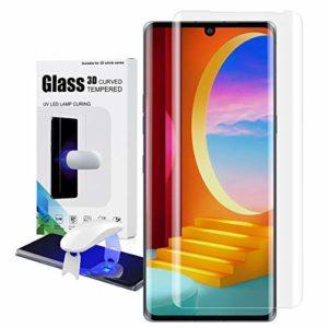 Foluu [1 Pack for LG Velvet Screen Protector, Full HD Curved Edge [Liquid UV Tempered Glass][Exclusive Solution for Ultrasonic Fingerprint] Easy Install Kit for LG Velvet