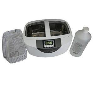 iSonic® brand Professional Grade Ultrasonic Cleaner P4820-SPB25 for Brass Cleaning, 25-min Timer, Plastic Basket, Solution 1Qt