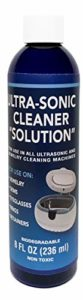 UltraSonic Cleaner Solution – The Jewelry Cleaner, Eyeglass Cleaner, Ring Cleaner. for Gold, Silver, Platinum Jewelry, Diamonds and More Non-Porous Precious and semi-Precious Jewelry. One 8 oz Bottle