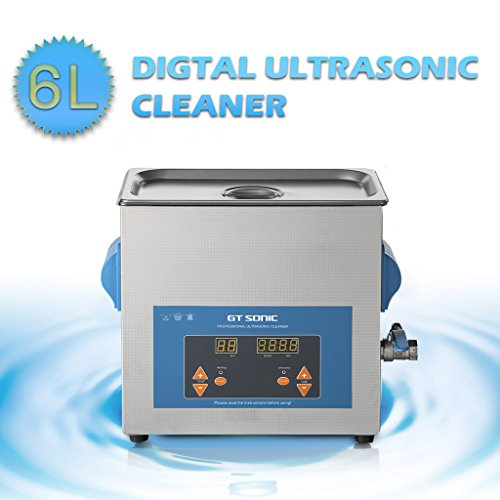 GT SONIC 6L Ultrasonic Cleaner With Powerful Transducer And Adjustable Timer Setting For Jewellery,Household Commodities, Glasses, Coins ,Metal Parts