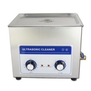 RONGZHAN 10.8L Professional Ultrasonic Cleaner Machine with Mechanical Timer Heated Stainless Steel Cleaning Tank 110V/220V