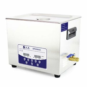 RONGZHAN 10L Professional Ultrasonic Cleaner Machine with Digital Touchpad Timer Heated Stainless Steel Tank Capacity Adjustable