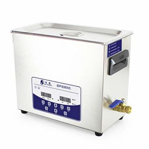RONGZHAN 6.5L Professional Ultrasonic Cleaner Machine with Digital Touchpad Timer Heated Stainless Steel Tank Capacity Adjustable
