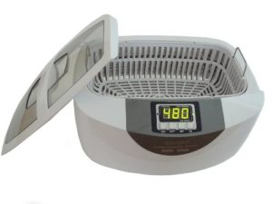 iSonic P4820-CE-WPB Commercial Ultrasonic Cleaner, 2.5L, White Color, Plastic Basket, 220V, European Plug (Do not Order for US, Canada)
