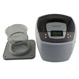 iSonic Ultrasonic Cleaner P4810, 2.1Qt/2 L, with 1000 ml Single Beaker Holder Set for DIY Liposomal Vitamin C